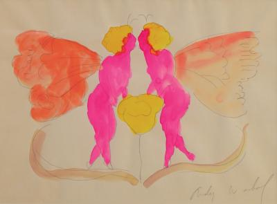 Andy Warhol Love in the Spring c 1955