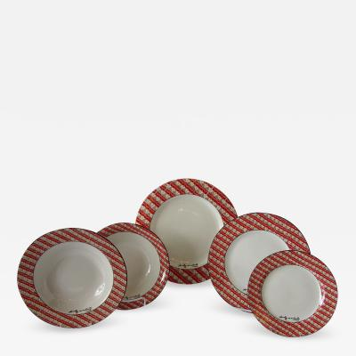 Andy Warhol Set of 24 Place Settings of Andy Warhol 100 Cans Dinnerware