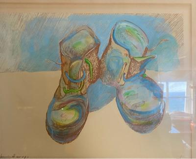 Andy Warhol WARHOL STYLE POP ART WORK BOOTS LITHOGRAPH