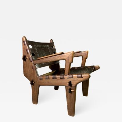 Angel Pazmino Angel Pazmno Leather Safari Chair Muebles De Estilo 1960s Ecuador