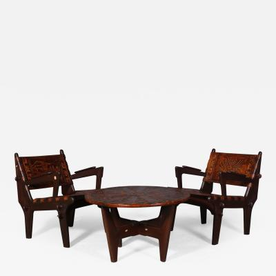Angel Pazmino Armchairs and table from the 1960s made at Muebles de Estilo Ecuador 3