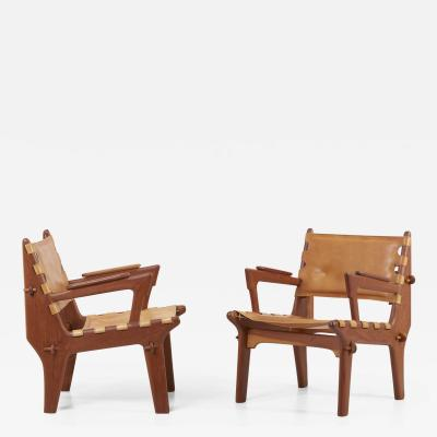 Angel Pazmino Pair of Lounge Chairs Cotacachi by Angel I Pazmino for Muebles de Estilo