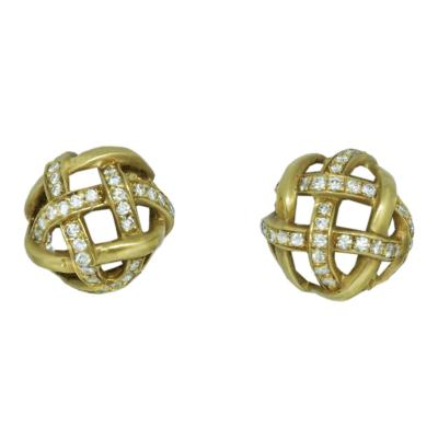 Angela Cummings 18k Gold Diamond Earrings