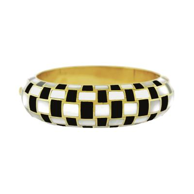 Angela Cummings Tiffany Co Checkerboard Bangle by Angela Cummings