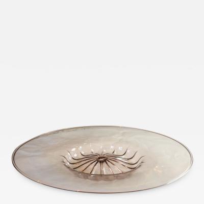 Angelo Barovier Angelo Barovier Vittorio Zecchin Plate in Murano glass circa 1950