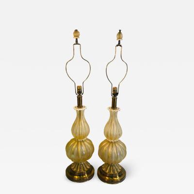 Angelo Barovier Pair of Amazing Barovier Murano Lamps