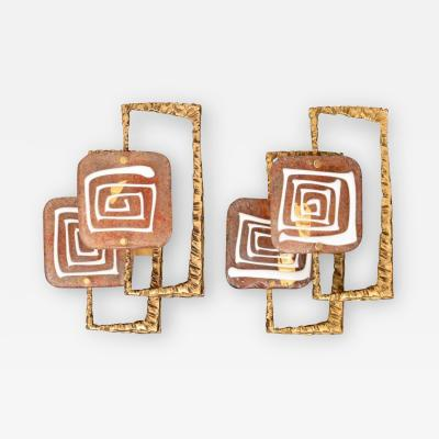 Angelo Brotto Pair of Angelo Brotto Sconces Appliques