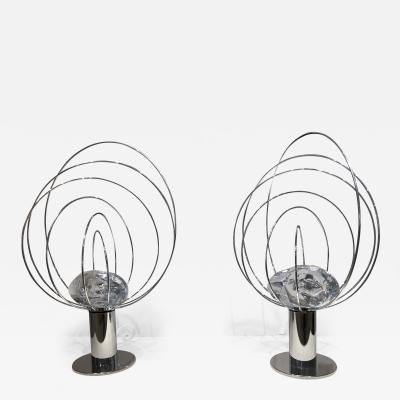 Angelo Brotto Pair of Angelo Brotto Sculptural Table Lamps
