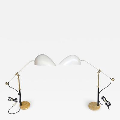 Angelo Brotto Pair of Lamps M5023 by Angelo Brotto for Esperia Italy 1950s