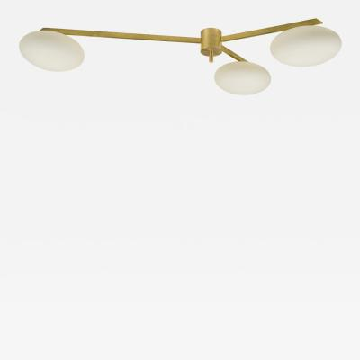 Angelo Lelii Lelli Angelo Lelli Style Three Arm Chandelier circa 1970 Italy