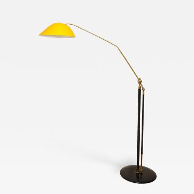 Angelo Lelii Lelli RARE STANDING LAMP WITH GOLDEN TOLE SHADE BY ANGELO LELII FOR ARREDOLUCE
