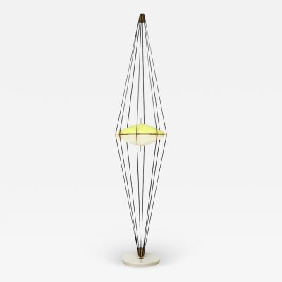 Angelo Lelii Lelli RARE TALL STANDING LAMP SILURO BY ANGELO LELII FOR ARREDOLUCE