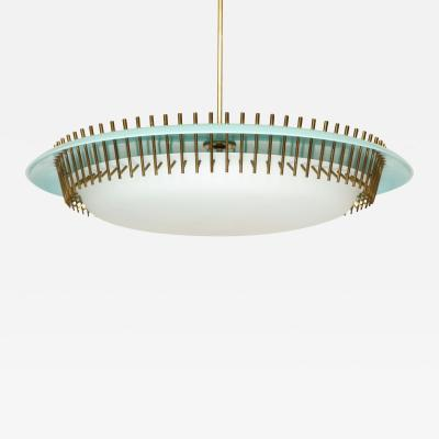 Angelo Lelii Lelli Rare suspension light fixture by Angelo Lelii for Arredoluce