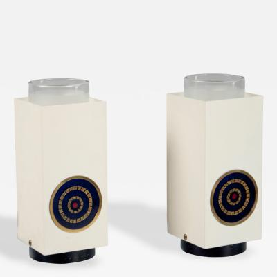 Angelo Lelii Pair of Table Lamps by Angelo Lelii Arredoluce Italy 1968