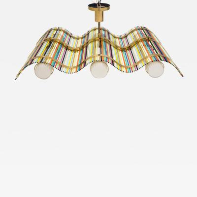 Angelo Lelli Angelo Lelli Wave Shaped Pendant Fixture for Arredoluce