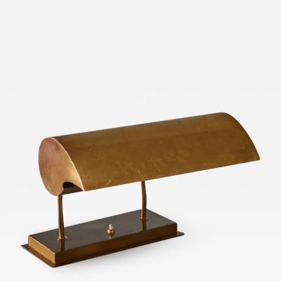 Angelo Lelli Angelo Lelli brassdesk lamp for Arredoluce Italy