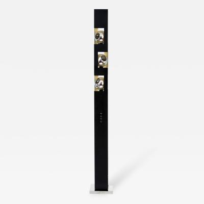 Angelo Lelli Angelo Lelli for Arredoluce Rare Triple Eyeball Floor Lamp with Torchiere