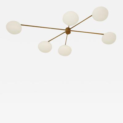 Angelo Lelli Ceiling Lamp in the Style of Angelo Lelli