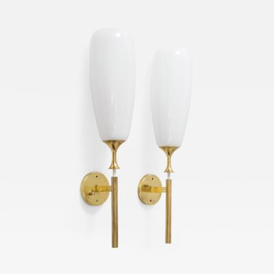 Angelo Lelli Lelii Angelo Lelii For Arredoluce Large Brass Sconces
