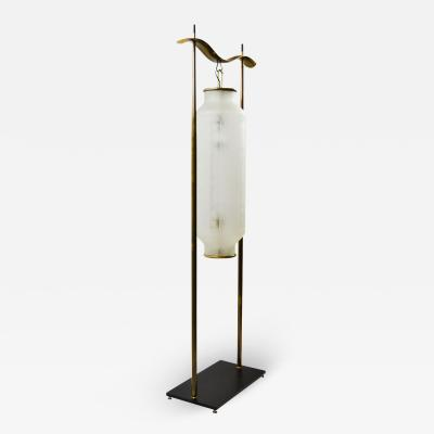 Angelo Lelli Lelii Angelo Lelii Hong Kong Floor Lamp for Arredoluce in Brass and Glass