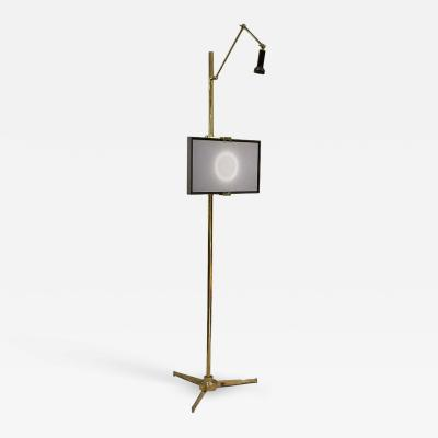 Angelo Lelli Lelii Arredoluce Easel Lamp by Angelo Lelli in Solid Brass 1950s