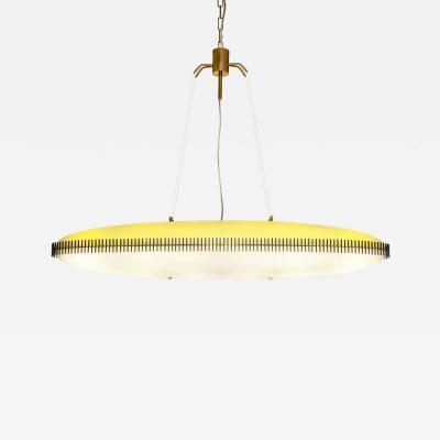 Angelo Lelli Lelii RARE OVAL SUSPENSION LIGHT FIXTURE BY ANGELO LELII FOR ARREDOLUCE