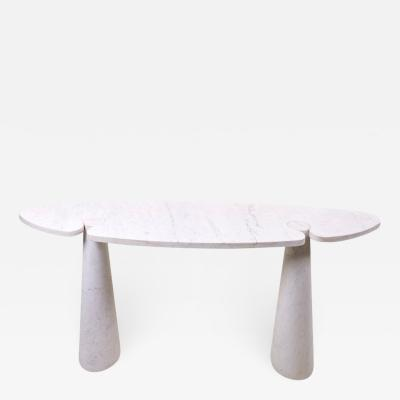 Angelo Mangiarotti 1 of 2 Angelo Mangiarotti Eros Console Tables in White Carrara Marble