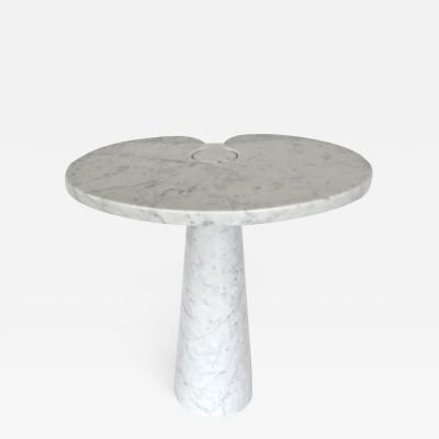 Angelo Mangiarotti ANGELO MANGIAROTTI EROS SERIES FOR SKIPPER WHITE CARRARA MARBLE TALL SIDE TABLE