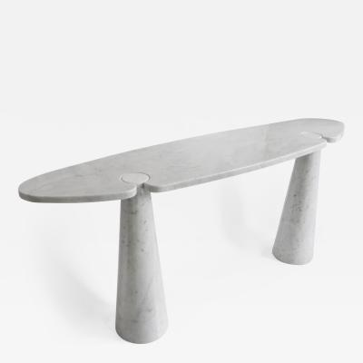 Angelo Mangiarotti ANGELO MANGIAROTTI WHITE CARRARA MARBLE EROS SERIES CONSOLE FOR SKIPPER