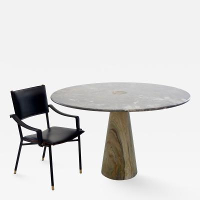 Angelo Mangiarotti Angelo Mangiarotti Arabescato Orobico Marble Eros Model Italian Dining Table