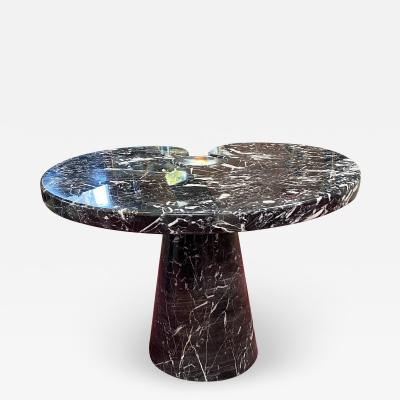 Angelo Mangiarotti Angelo Mangiarotti Black Marquina Marble Side Table from Eros Series