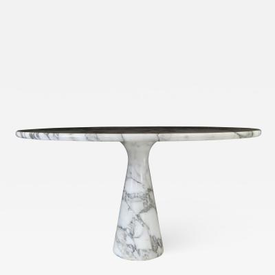 Angelo Mangiarotti Angelo Mangiarotti Carrara Marble Model M1T70 Dining Table or Center Table