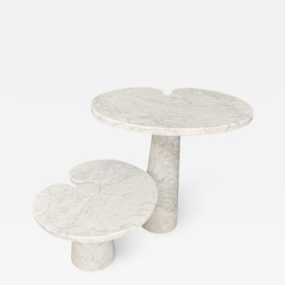 Angelo Mangiarotti Angelo Mangiarotti Side table Eros series Skipper in marble white label 1970s