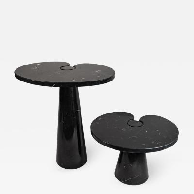 Angelo Mangiarotti Angelo Mangiarotti Two Side Tables Black Marquina Marble Italy circa 1980