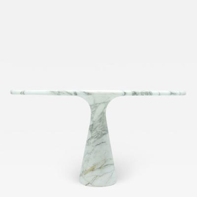 Angelo Mangiarotti Angelo Mangiarotti Withe and Grey Marble Dining Table M1 Skipper 1969
