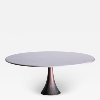 Angelo Mangiarotti Angelo Mangiarotti bronze and marble coffee table for Bernini