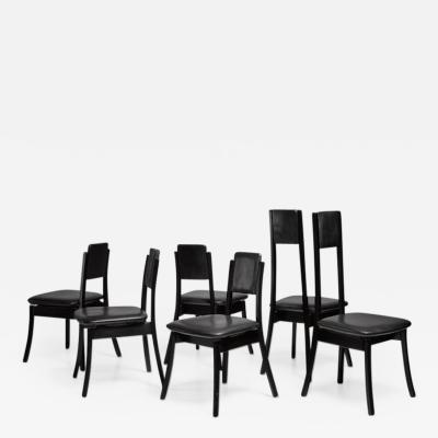 Angelo Mangiarotti Angelo Mangiarotti set of six dining chairs Italy