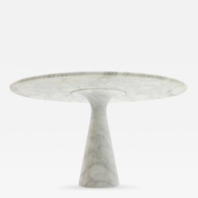 Angelo Mangiarotti Carrara Marble Dining Table by Angelo Mangiarotti