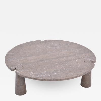 Angelo Mangiarotti Large Circular Eros Marble Coffee Table by Angelo Mangiarotti for Skipper