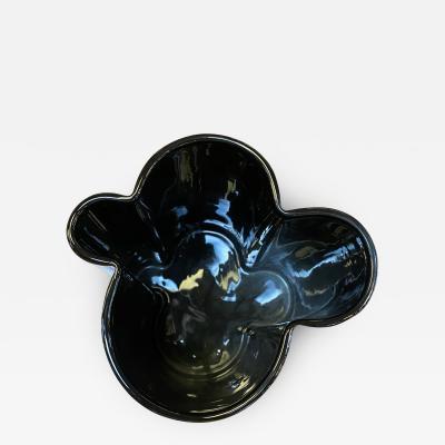Angelo Mangiarotti M6 Black Wavy Ceramic Vases by Angelo Mangiarotti for Fratelli Brambilla