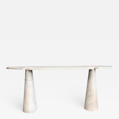Angelo Mangiarotti Marble Console Table by Angelo Mangiarotti