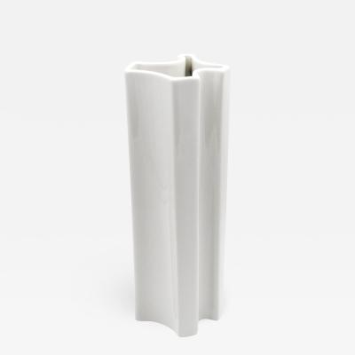 Angelo Mangiarotti Model M6 White Ceramic Vase by Angelo Mangiarotti for Ceramiche Brambilla 1968