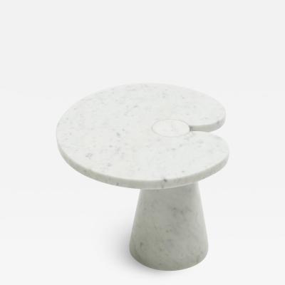 Angelo Mangiarotti Original Angelo Magiarotti marble side table Eros Series Italy 1970s