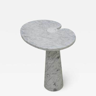 Angelo Mangiarotti Original Angelo Mangiarotti Italian Eros Carrara Marbel Side Table