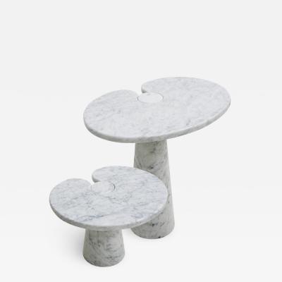 Angelo Mangiarotti Original Angelo Mangiarotti Italian Eros Carrara Marbel Side Tables