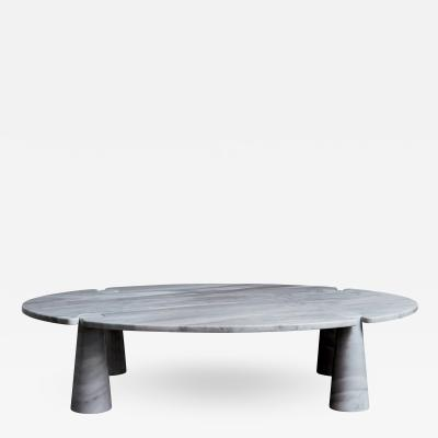 Angelo Mangiarotti Oval Eros Angelo Mangiarotti Carrara Marble Coffee Table
