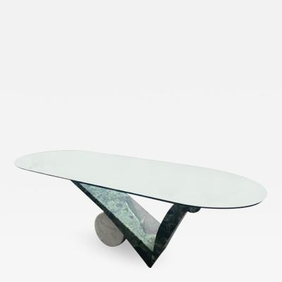 Angelo Mangiarotti POST MODERN MARBLE DINING TABLE