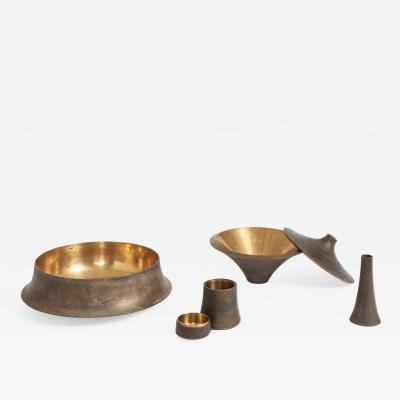 Angelo Mangiarotti Rare set of bronze objects