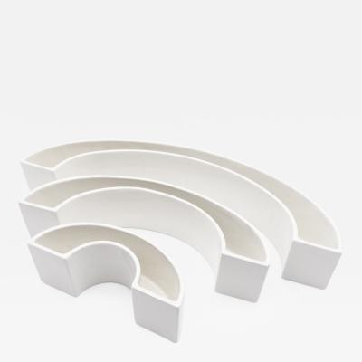 Angelo Mangiarotti Set of 3 Tremiti Tondo Ceramics for Danese Milano 1964