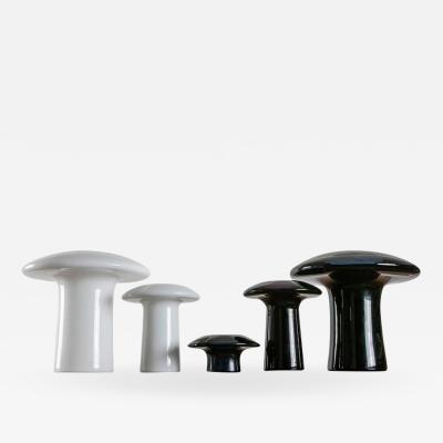 Angelo Mangiarotti Set of Five Murano Glass Vases by Angelo Mangiarotti